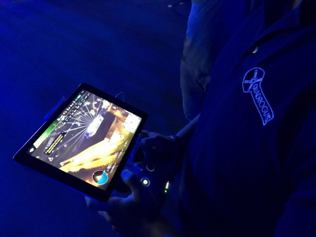 Quadroguys Drohne Behind the Scenes bei Nacht