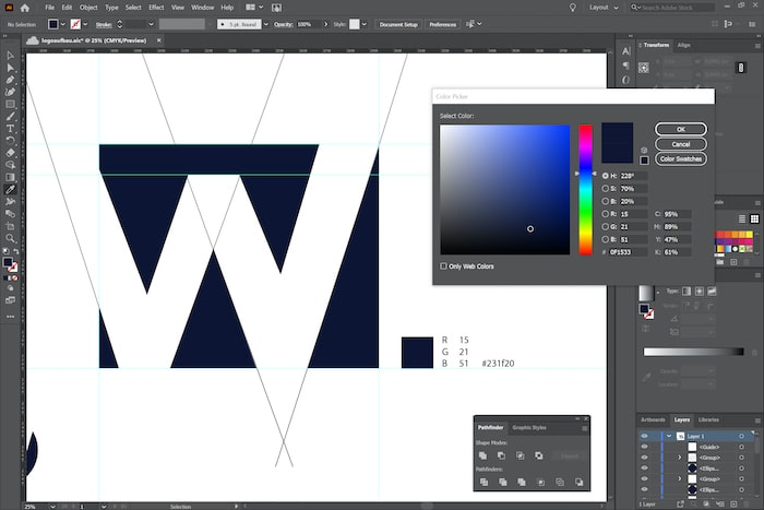 Logoerstellung Adobe Illustrator 1